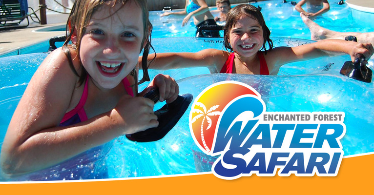 kids in a pool at Enchanted Forest Water Safari